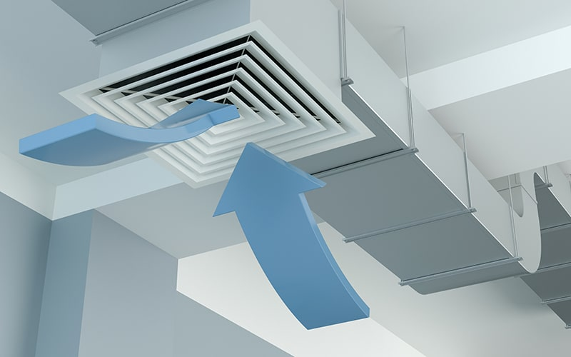 Industrial air duct ventilation