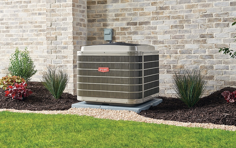 An image of an AC on the yard
