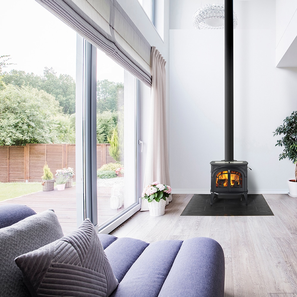 Image of a living room with fireplace